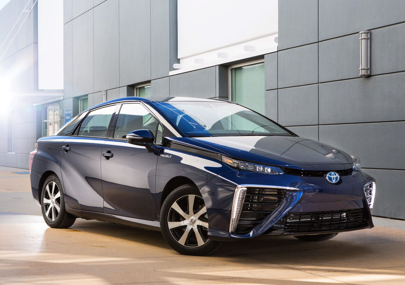 The Fuel Cell Vehicle (FCV) is an all-electric, called 'Mirai