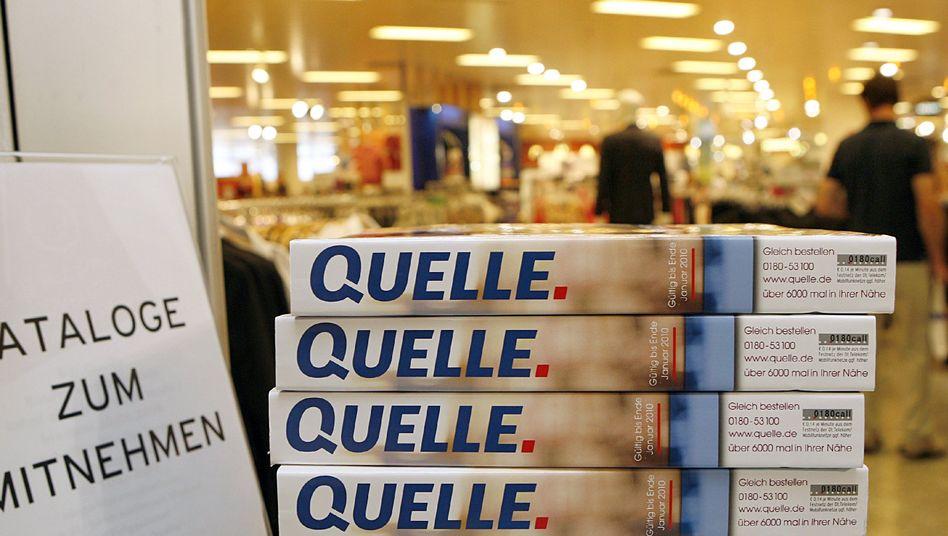 Der letzte Quelle-Katalog: Das Unternehmen meldete 2009 Insolvenz an