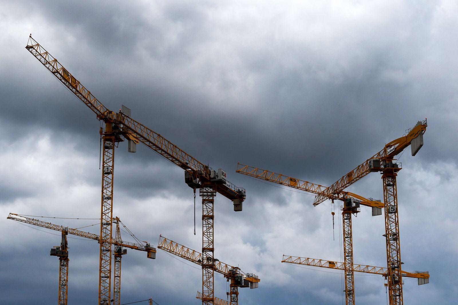 Deutschland / Baustelle / Konjunktur / Kräne