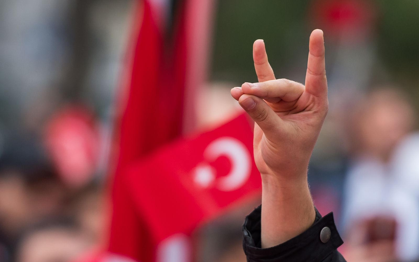 Demonstration von Türken in München