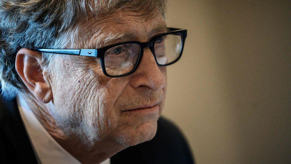 Bill Gates 2019 in Lyon bei einer Konferenz
