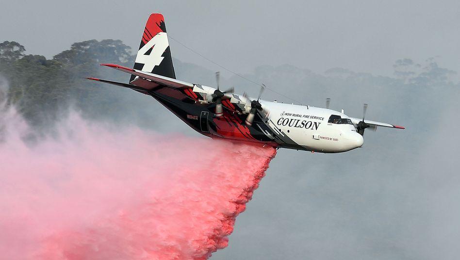 Löschflugzeug vom Typ C-130 Hercules (Archivbild): Die Unglücksursache ist noch unklar