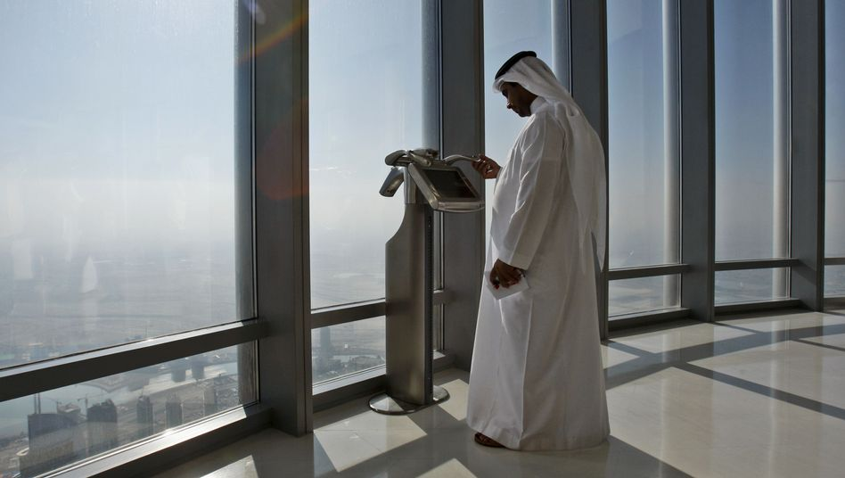 The observation deck of the Burj Khalifa tower
