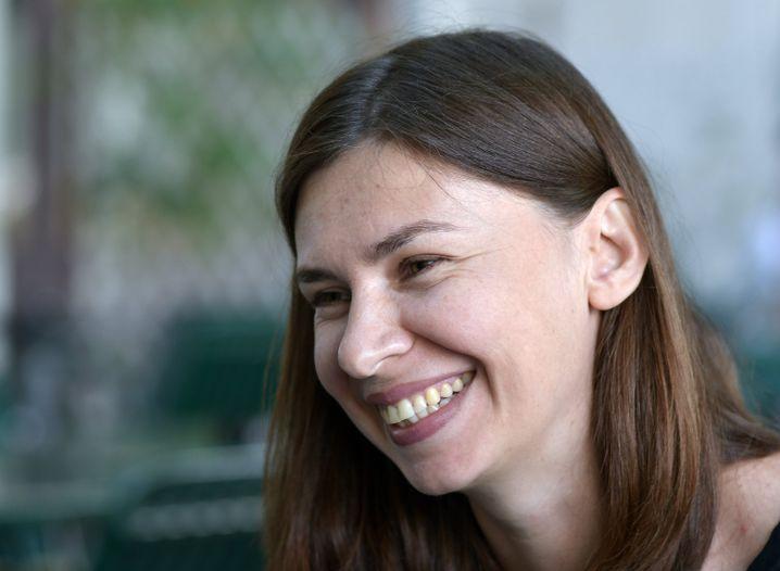 Tanja Maljartschuk beim Literarturwettbewerb zum Ingeborg-Bachmann-Preis 2018