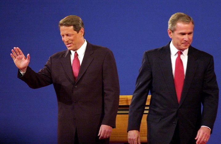 Al Gore und George W. Bush: Duell ums Präsidentenamt im Jahr 2000