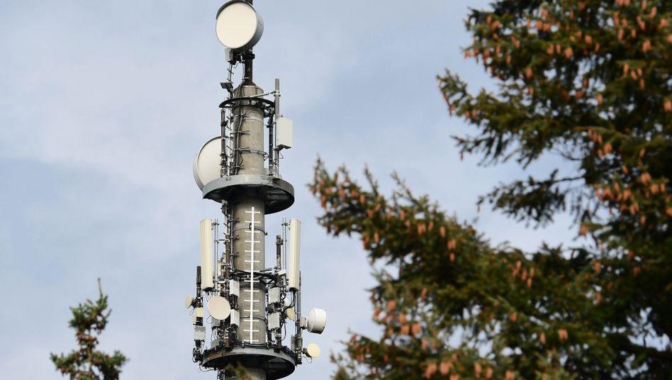 5G-Sendemast bei Bernau: Der Netzaufbau beginnt gerade