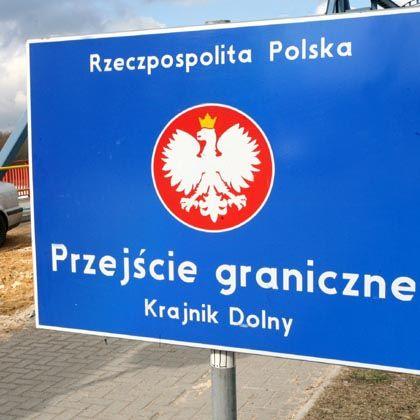 Grenzschild: Polinnen entbinden auffällig häufig in dem deutschen Ort