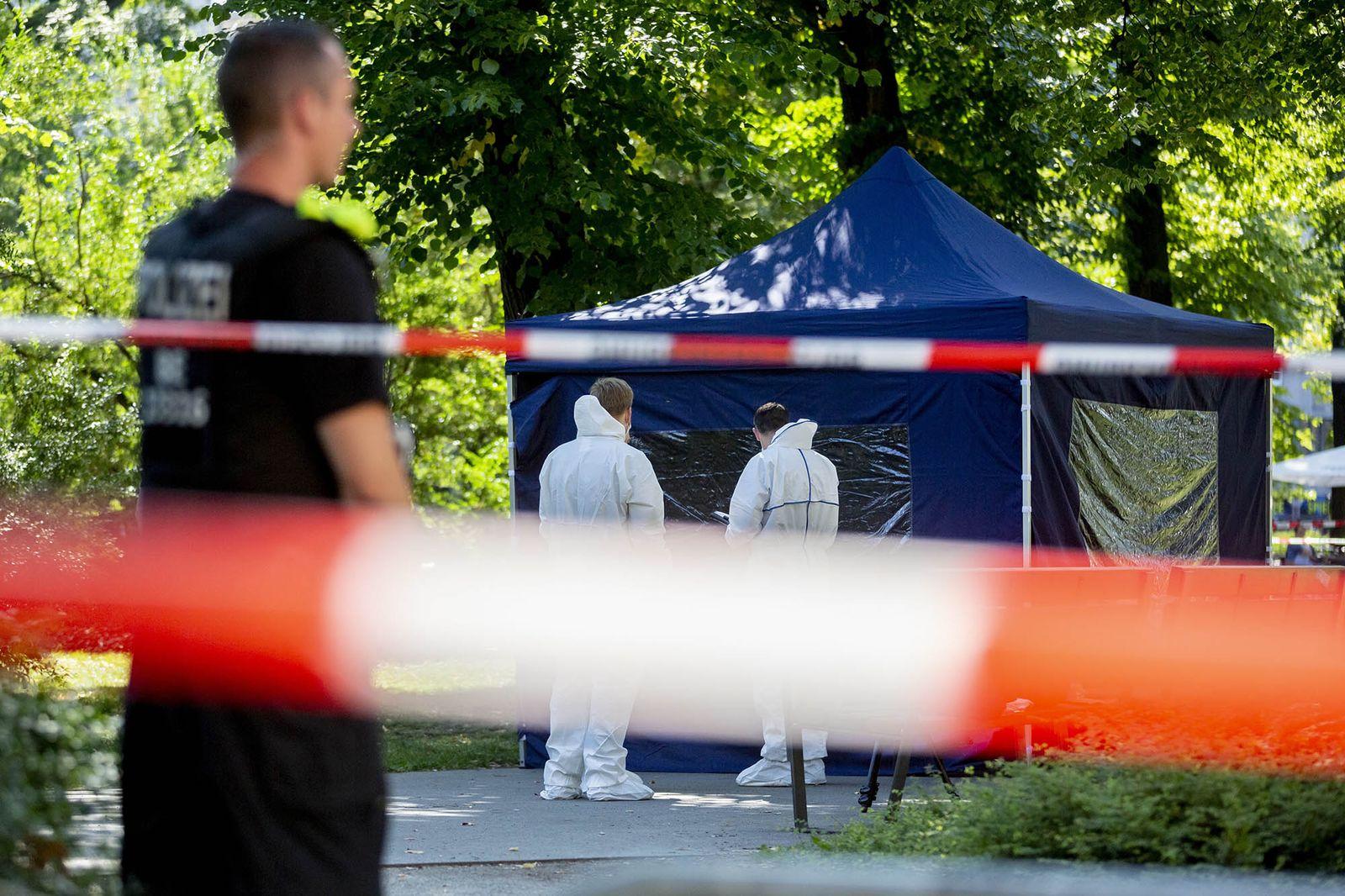 EINMALIGE VERWENDUNG Mord/ Georgier/ Berlin/ Tiergarten