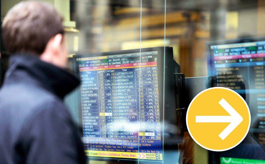Finanzkrise Italien Symbol Pfeil gerade