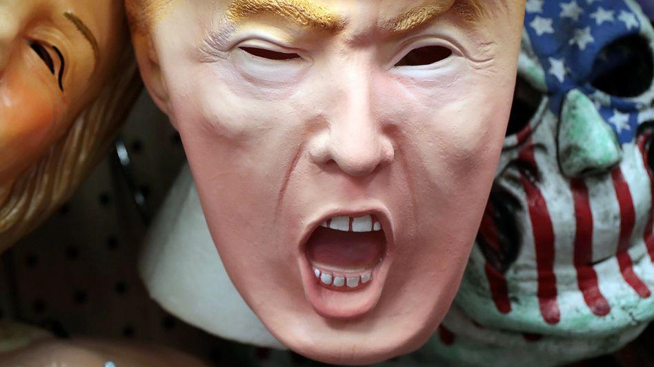 Trump-Maske in einem Geschäft in Chicago 2016