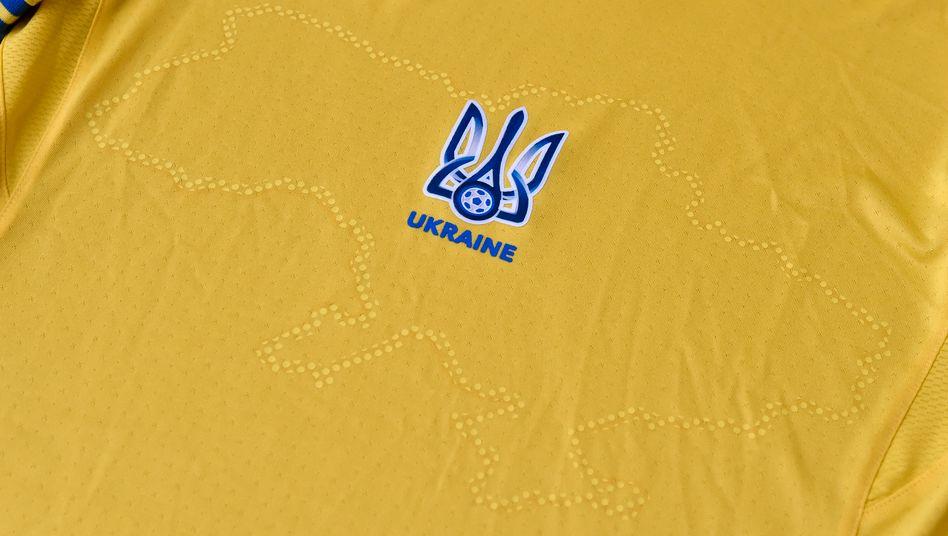 Das EM-Trikot der ukrainischen Nationalmannschaft
