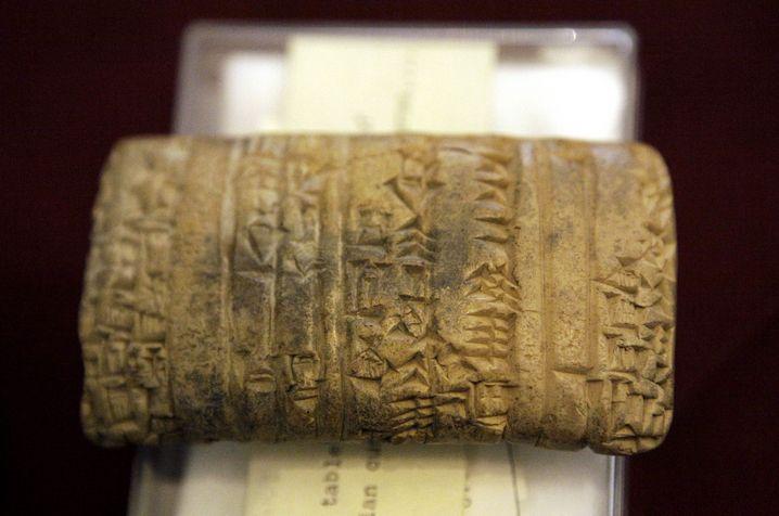 Tontafel mit sumerischem Text: Jahrhunderte der Dürre