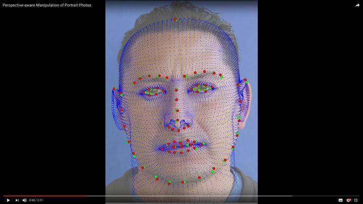 3D-Modell eines Selfies