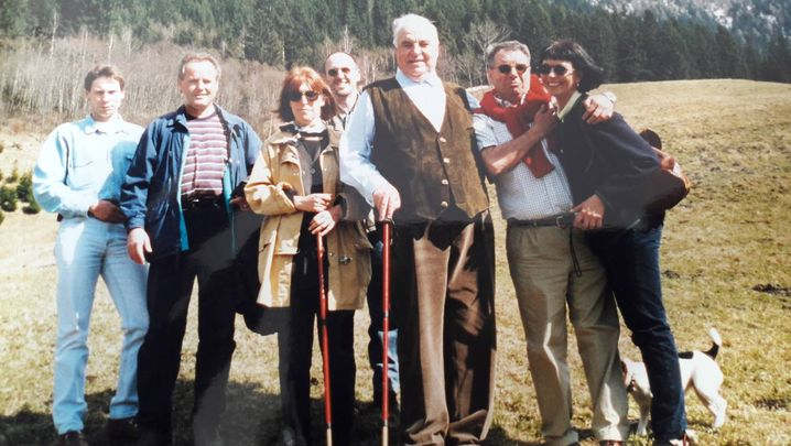 Kohl, Herbold (ganz rechts) im Urlaub