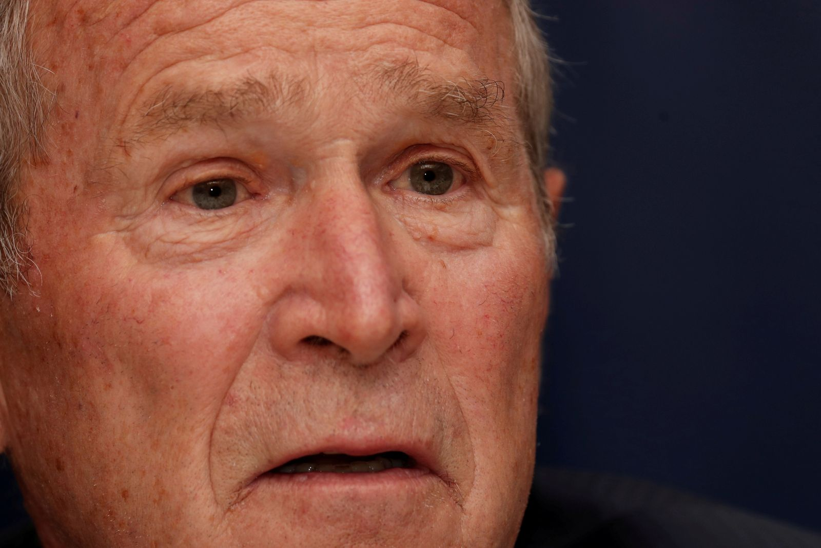 FILE PHOTO: Former U.S. President George W. Bush speaks during the Bloomberg Global Business Forum in New York City