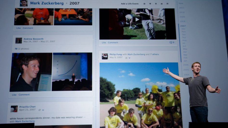 Facebook-Chef Mark Zuckerberg (September 2011): Digitaler Lebenslauf