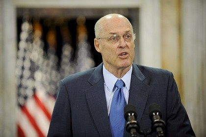 U.S. Treasury Secretary Henry Paulson announces the plan to take equity stakes in potentially thousands of banks.