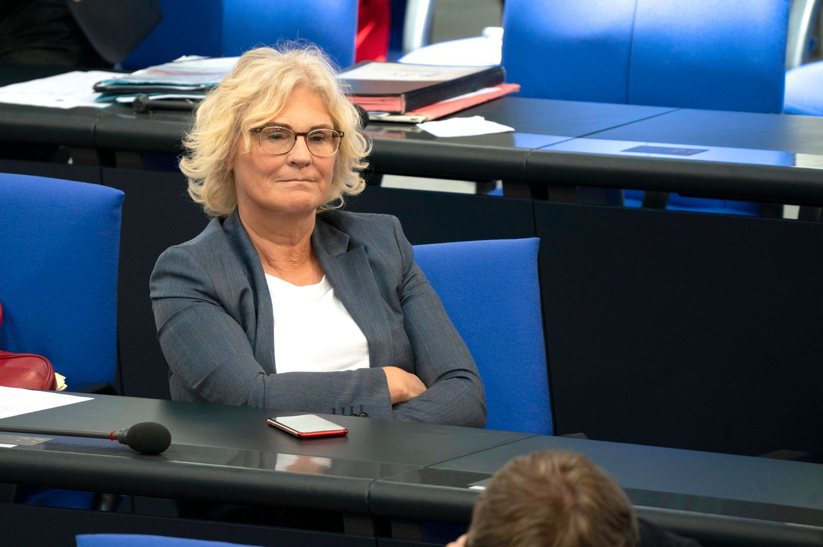 Christine Lambrecht bei der 163. Sitzung des Deutschen Bundestages. Berlin, 28.05.2020 *** Christine Lambrecht at the 1