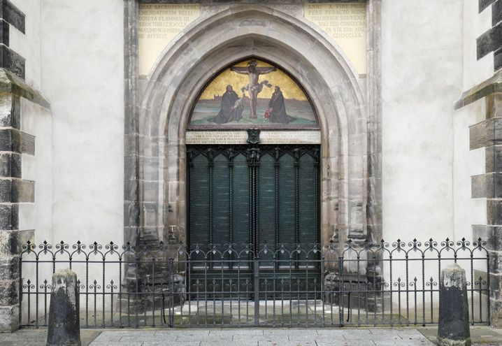 Thesentür an der Schlosskirche in Wittenberg