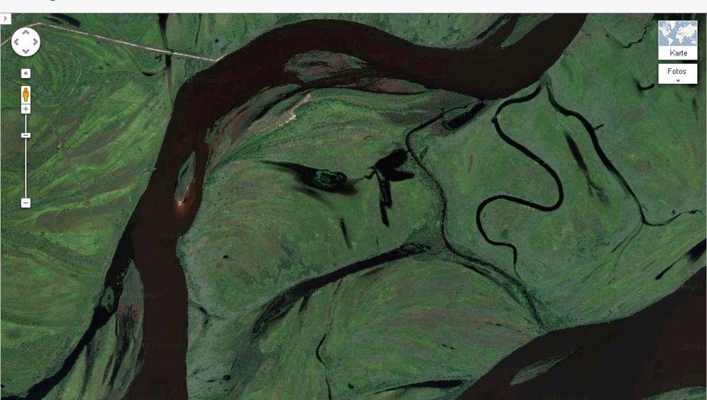 Satellitenfotos: Google-Gesichter in Russland, Alaska und China