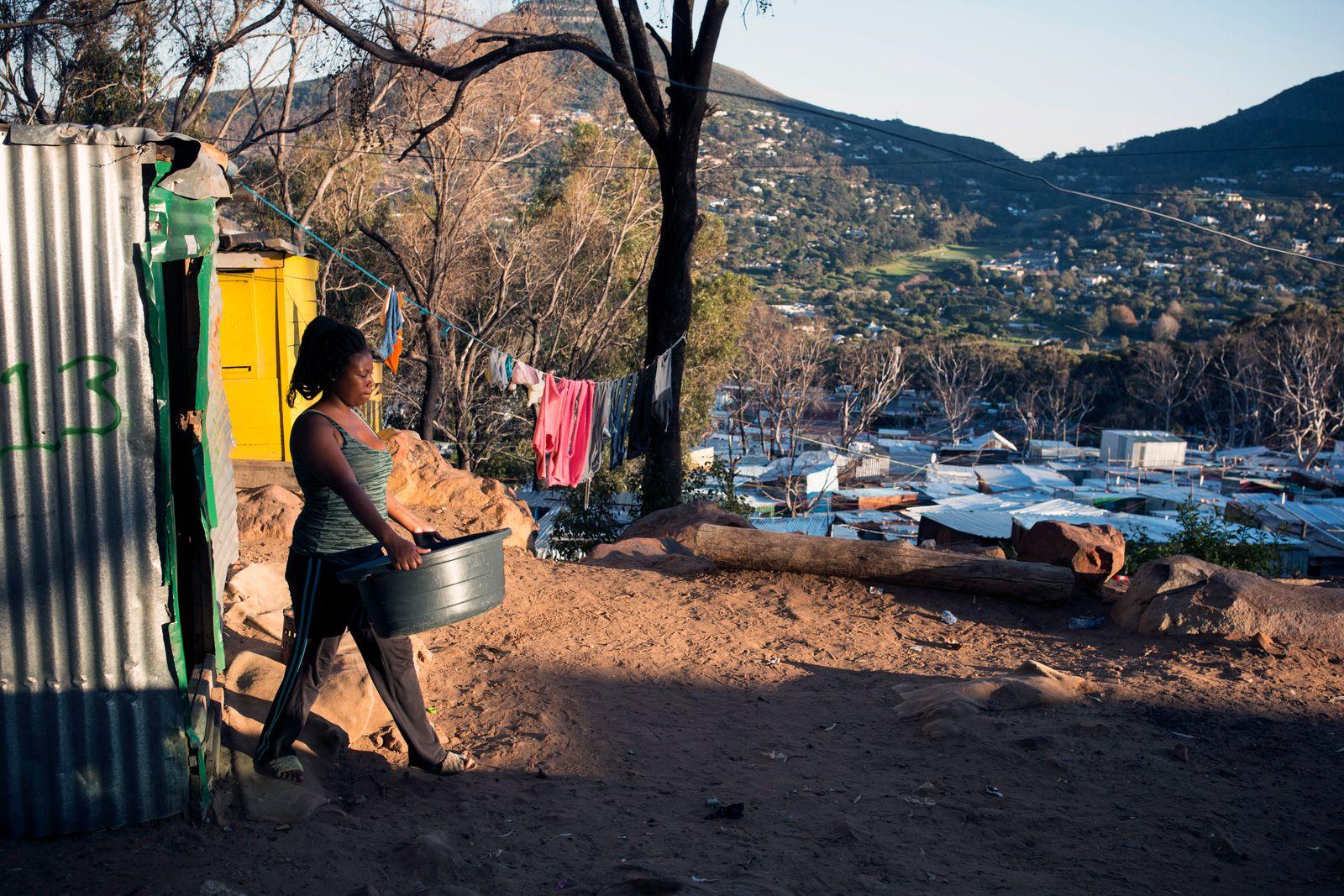 Imizamo Yethu township in Hout Bay, South Africa