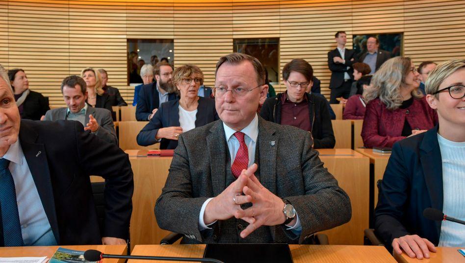 Bodo Ramelow am Mittwoch vor der Wahl im Erfurter Landtag