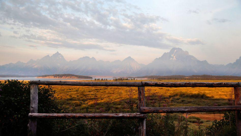 Der Grand-Teton-Nationalpark nördlich von Jackson Hole im US-Bundesstaat Wyoming: Amerikas reichste Gegend