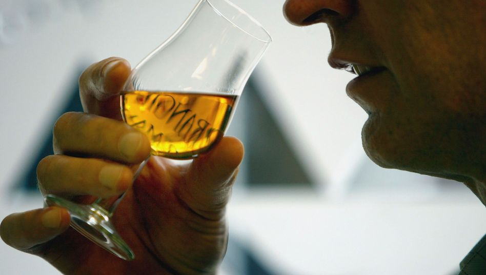 Whiskytrinker bei der Verkostung