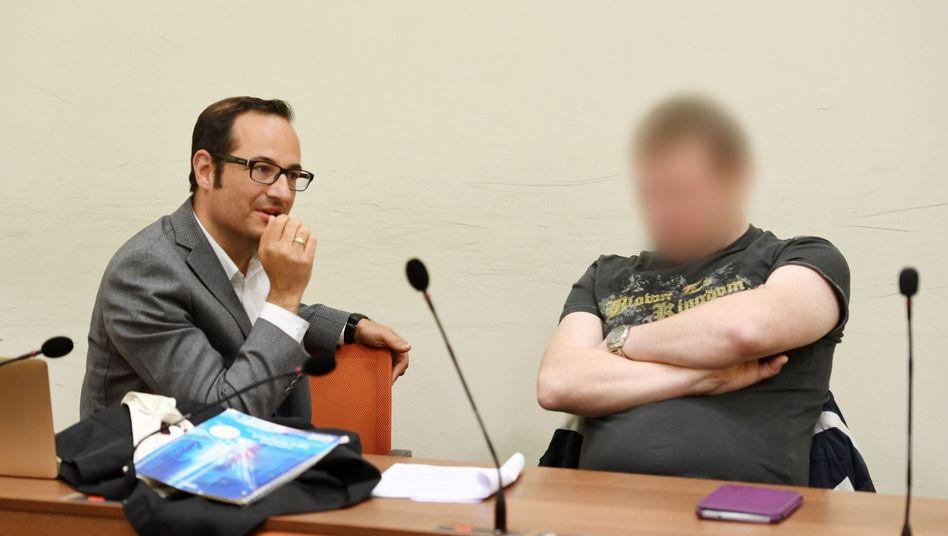 Holger G. mit Anwalt Pajam Rokni-Yazdi (Archiv)