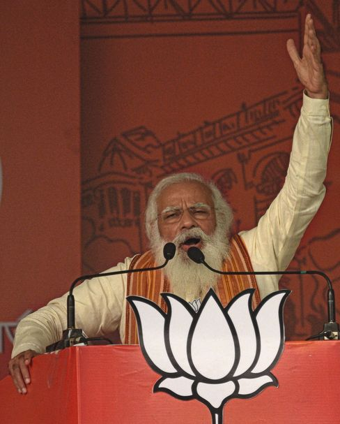 """Prime Minister Narendra Modi during a campaign appearance in mid-April: """"Injected poison into civil society."""""""