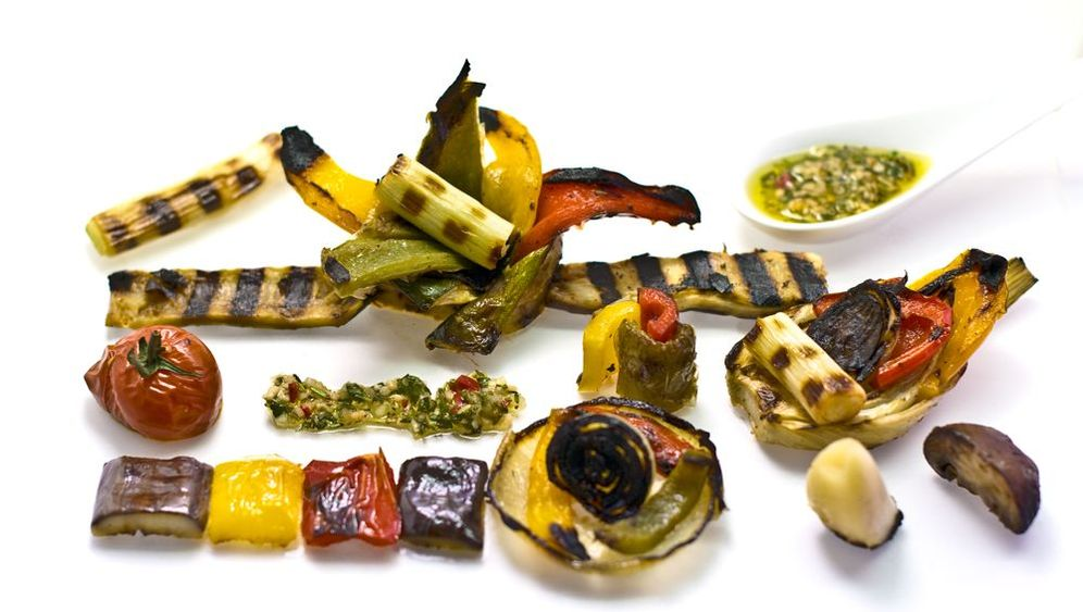 Tageskarte Küche: Gegrillter Antipastisalat mit Chimichurri