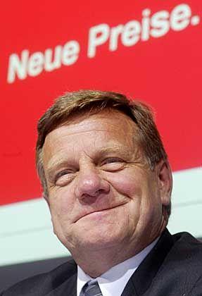 Hat gut Lächeln: Bahnchef Harmut Mehdorn