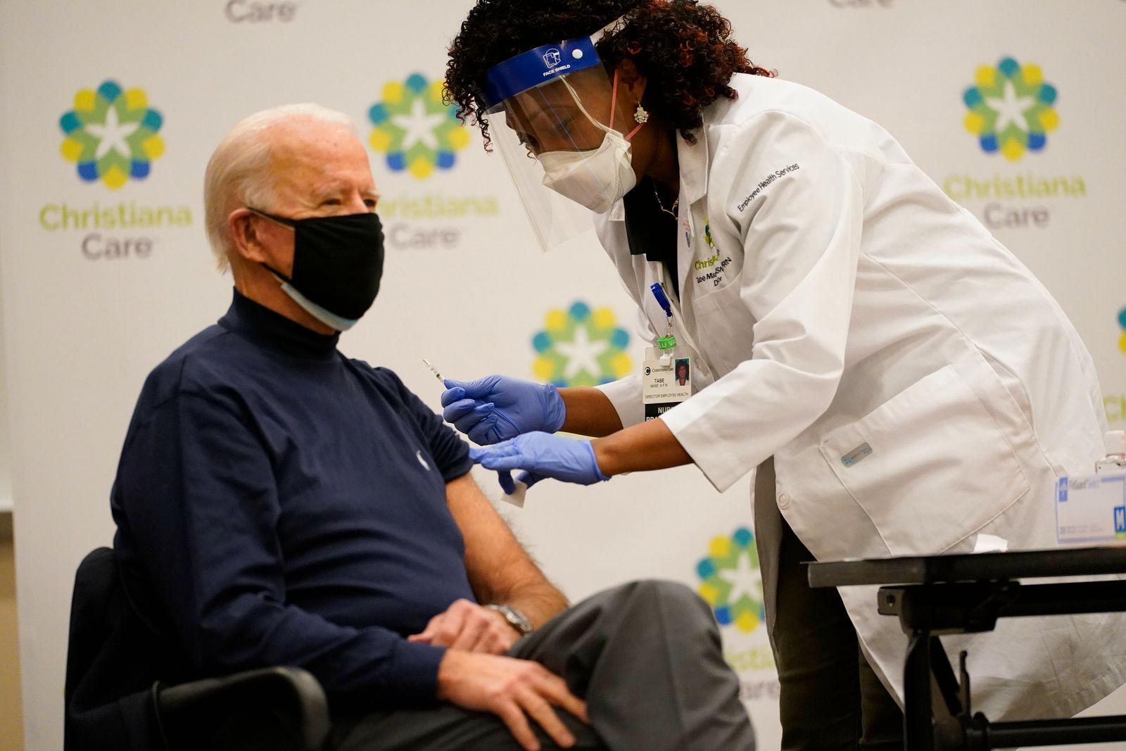Coronavirus - Biden erhält Impfung