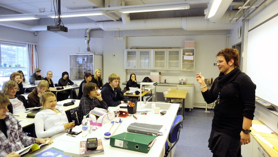 Schulunterricht in Finnland - noch als Fachunterricht und mit Frontalvortrag (Archivbild)