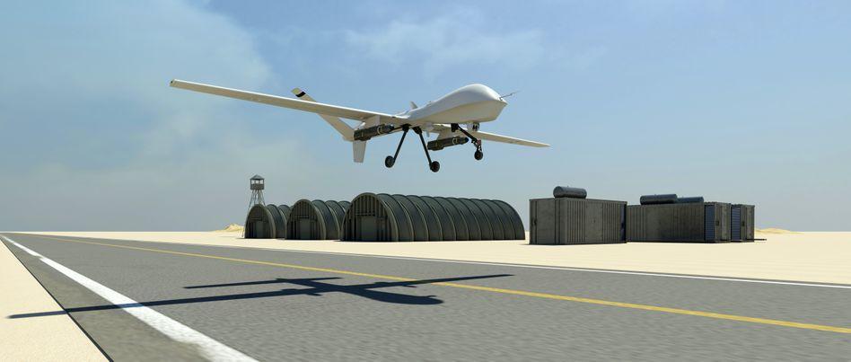 Drohne (künstlerische Darstellung)