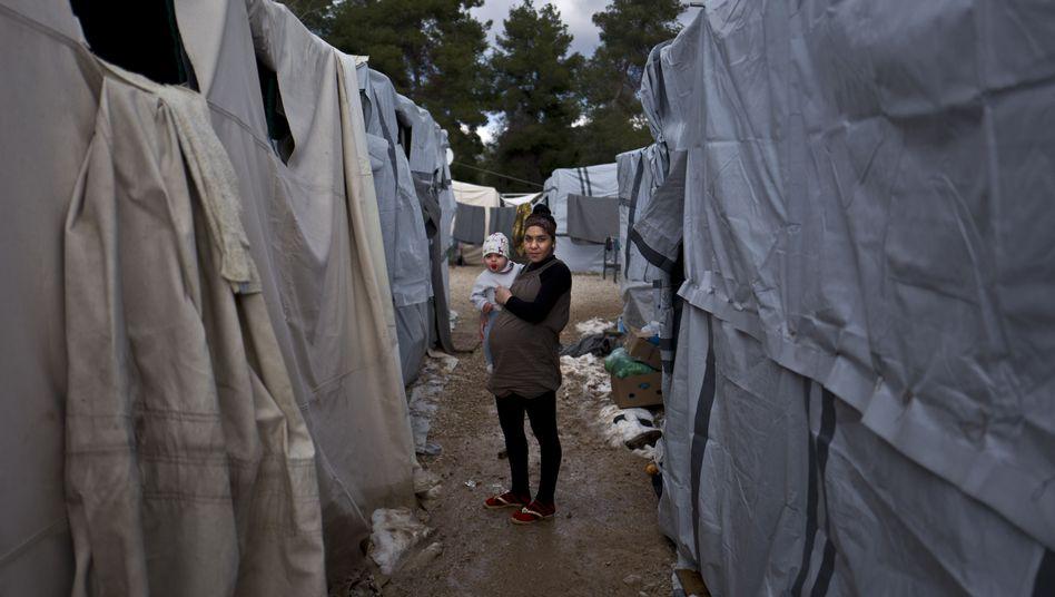 Syrische Flüchtlinge in Ritsona, Griechenland