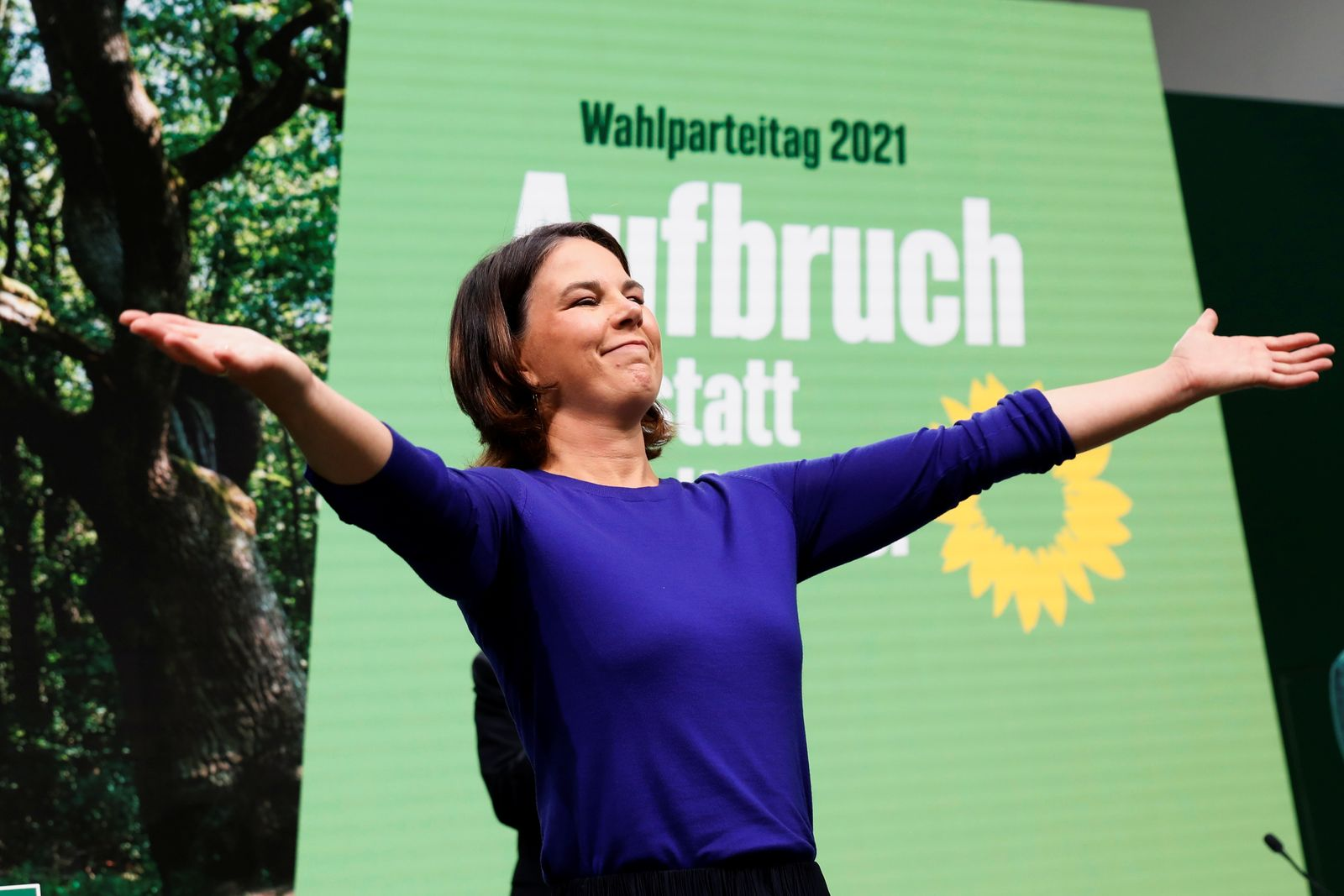 The Greens hold party congress to mark the final phase of their election campaign, in Berlin