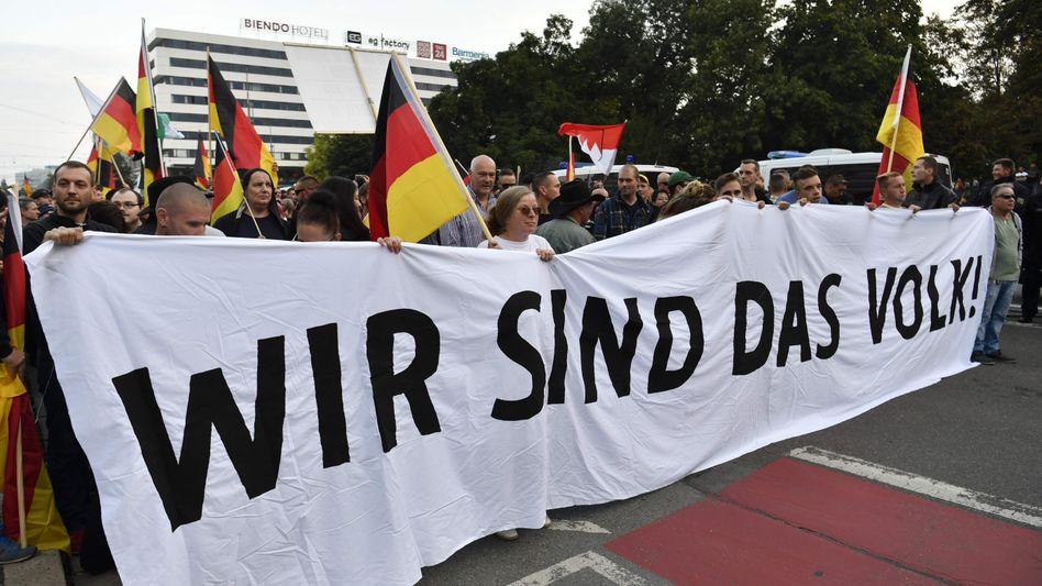 """Demonstranten von """"Pro Chemnitz"""""""