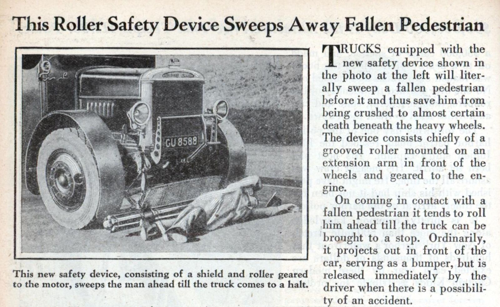 Roller Safety Device