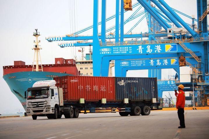 """Chinesischer Hafen Qingdao: """"Würde der Nation"""" auf dem Spiel"""