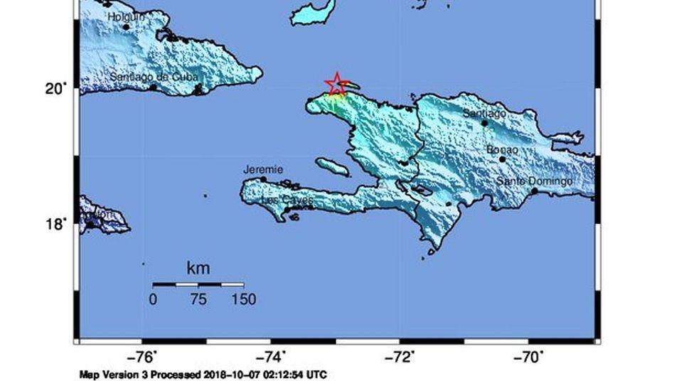 Karte, die das Zentrum des Erdbebens zeigt