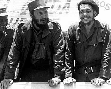 Many are saying Morales belongs in the same category as Che Guevara, here pictured with Fidel Castro.