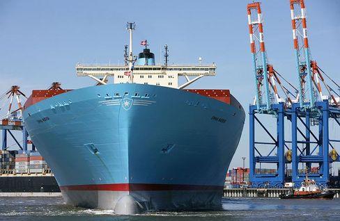 """Containerschiff """"Emma Maersk"""": Gut 100.000 PS für 13.000 Container"""