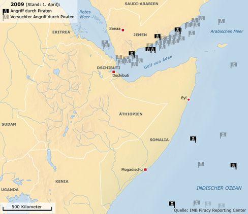 Küste vor Somalia: Zentrum der Piraterie