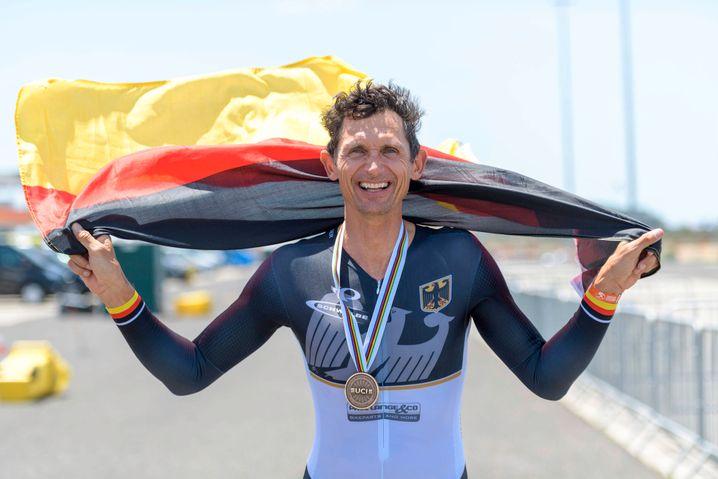 Michael Teuber bei der Rad-WM 2021