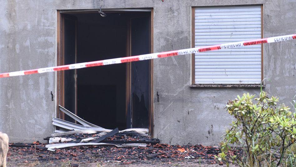 Flüchtlingsunterkunft in Remchingen (am 18. Juli): Wieder ein Brandanschlag