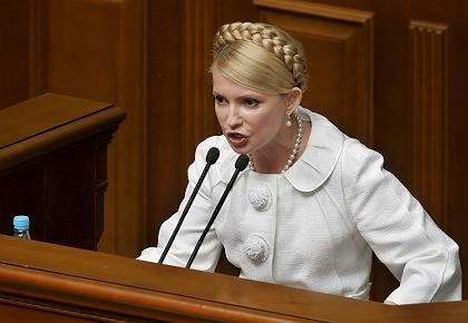 """Die designierte Ministerpräsidentin der Ukraine,Julia Timoschenko: """"Heute beginnen wir unseren Kampf"""""""