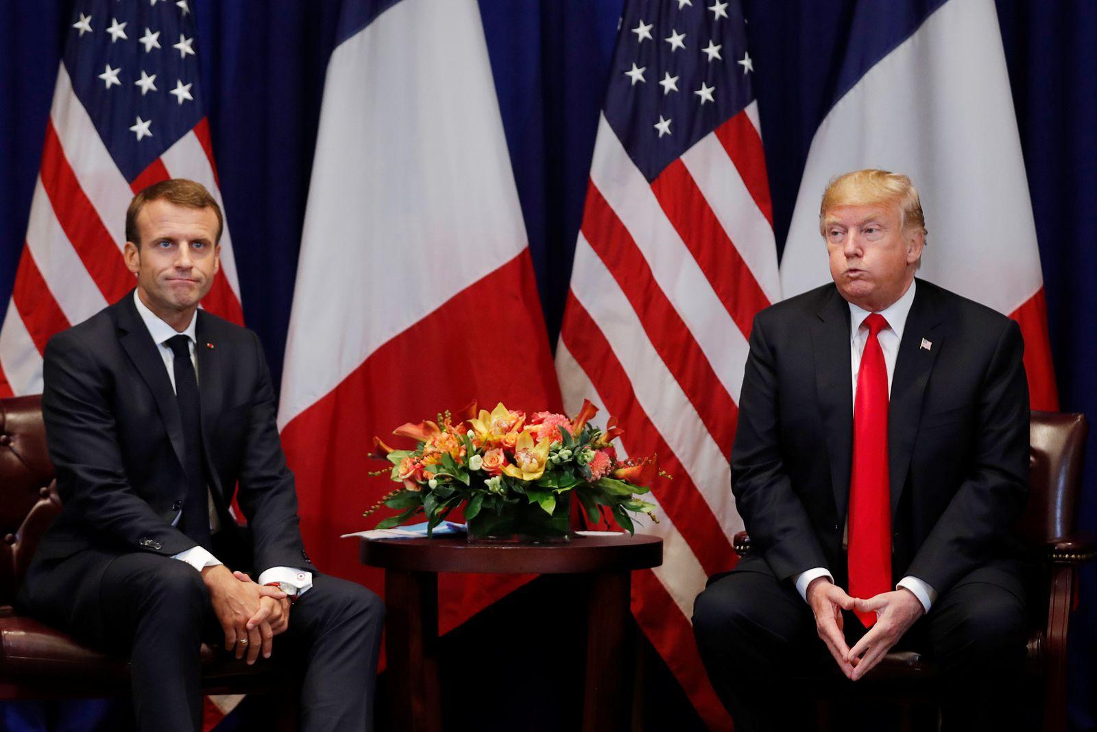 Donald Trump Emmanuel Macron
