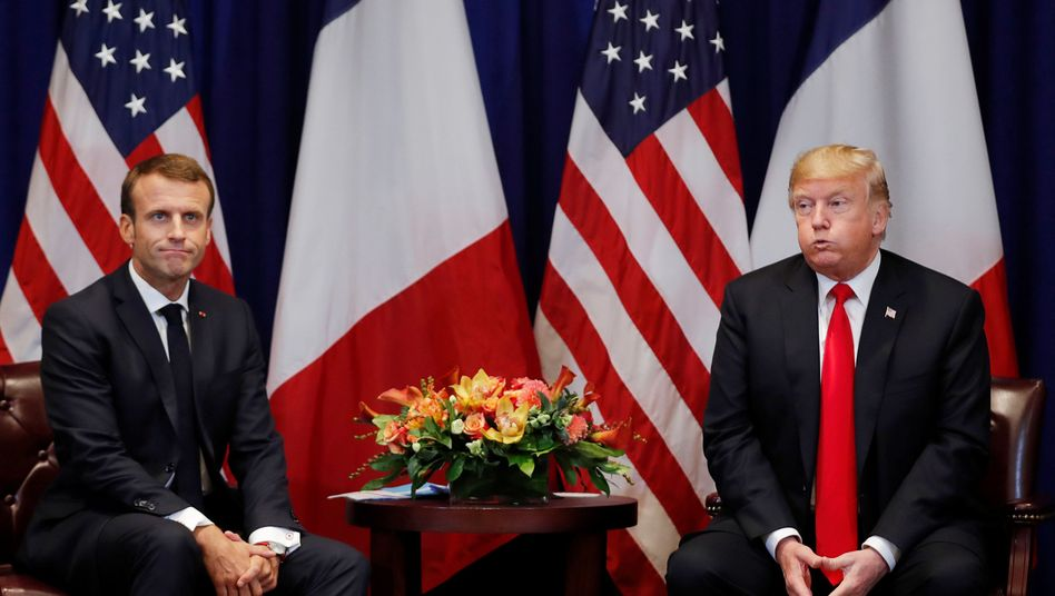Macron und Trump in New York