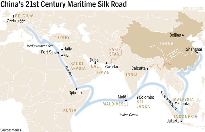 Map: The Maritime Silk Road